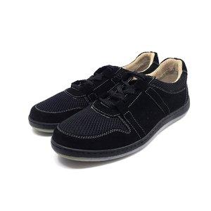Pantofi barbati sport din piele naturala Leofex - Mostra Fabian Negru Velur