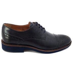 Pantofi casual barbati din piele naturala-537 Blue Box