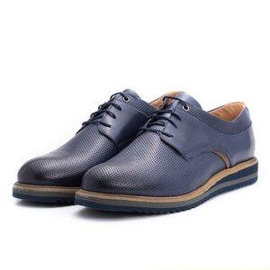 Pantofi casual barbati din piele naturala,Leofex-592-1 Blue Box