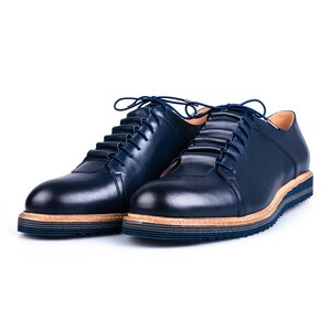 Pantofi casual barbati din piele naturala Leofex - 599 Blue Box
