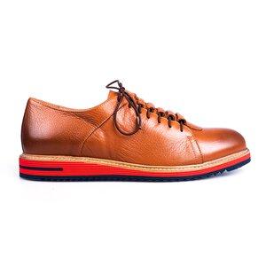 Pantofi casual barbati din piele naturala Leofex- 599 Cognac Box
