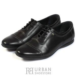 Pantofi casual barbati din piele naturala, Leofex - 699 negru box