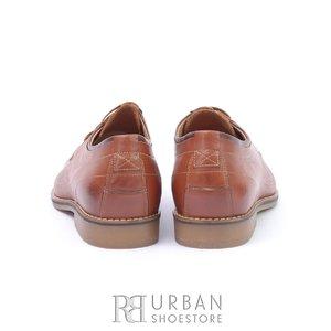 Pantofi casual barbati din piele naturala, Leofex - 787 Cognac Box