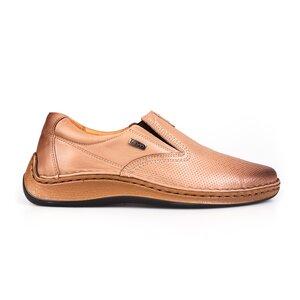 Pantofi casual barbati din piele naturala, Leofex - 919 Taupe box