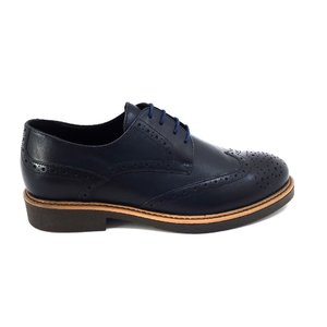 Pantofi casual barbati din piele naturala Leofex-Mostra David Blue Box