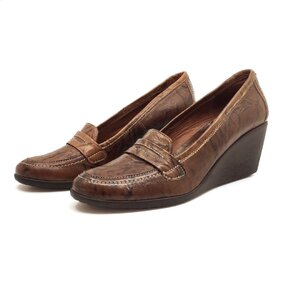 Pantofi casual cu platforma dama din piele naturala,Leofex-239 Maro Box