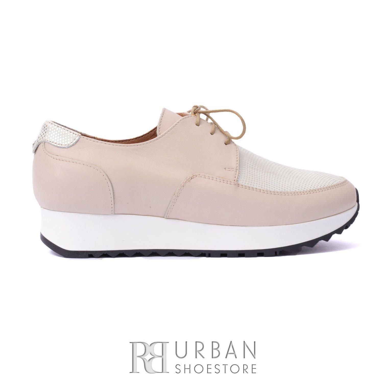 vânzare la cald produse noi calde imagini oficiale Pantofi Casual Dama 102 Bej-Auriu