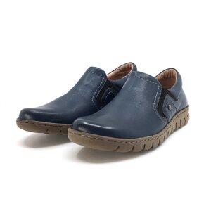 Pantofi casual dama din piele naturala, Leofex - 093 Blue Box