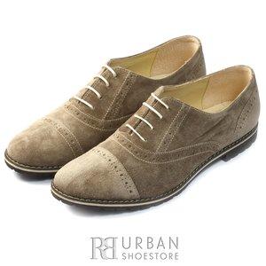 Pantofi casual dama din piele naturala, Leofex - 480 taupe velur