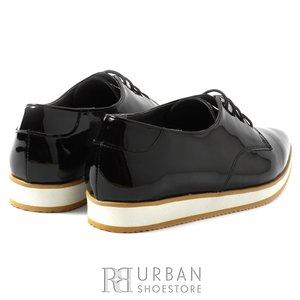 Pantofi casual de lac - 111 negru
