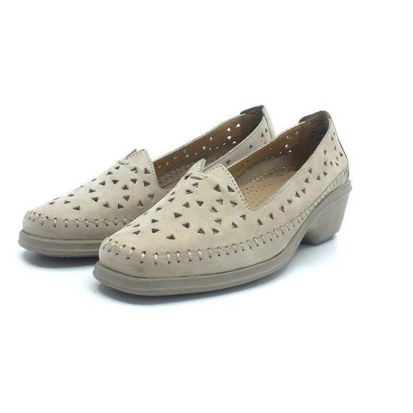Pantofi casual de piele naturala - B9366 Taupe Nabuc