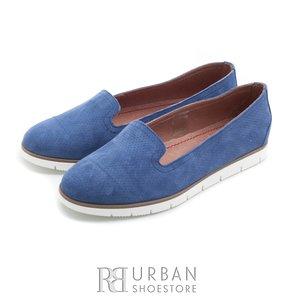 Pantofi casual din piele intoarsa - 024-B18 albastru