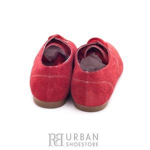 Pantofi casual din piele intoarsa - 315 rosu presat