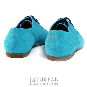 Pantofi casual din piele intoarsa - 315 turcoaz presat