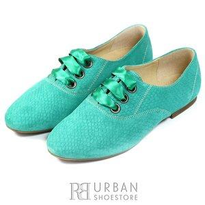 Pantofi casual din piele intoarsa - 315 verde presat