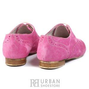 Pantofi casual din piele intoarsa - 450 roz