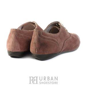 Pantofi casual din piele intoarsa - 451-1 plamaniu
