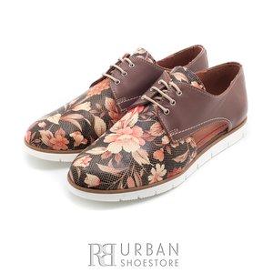 Pantofi casual din piele naturala - 022 taupe floral