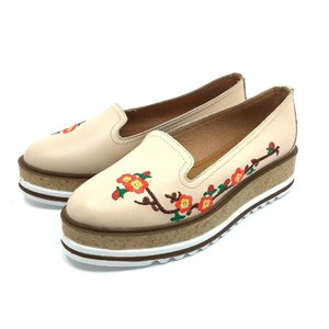 Pantofi casual din piele naturala - 024-2 Bej Box