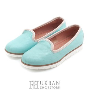 Pantofi casual din piele naturala - 024- albastru crem deschis box