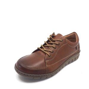 Pantofi casual din piele naturala - 092 Cognac Box