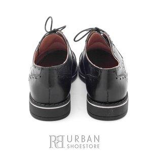 Pantofi casual din piele naturala - 094 negru