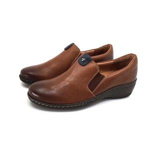 Pantofi casual din piele naturala - 098 Cognac