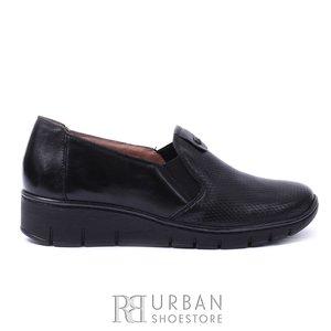 Pantofi casual din piele naturala - 106 negru