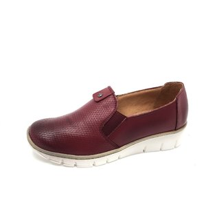 Pantofi casual din piele naturala - 106 visiniu