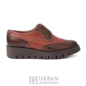 Pantofi casual din piele naturala - 180 maro-cognac