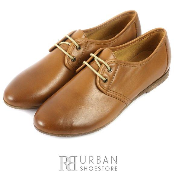 Pantofi casual din piele naturala - 316 camel