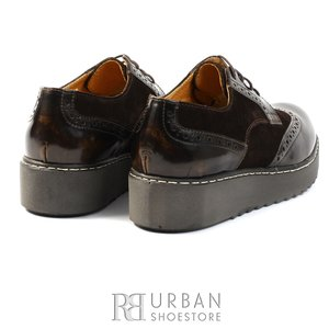 Pantofi casual din piele naturala - 361 maro