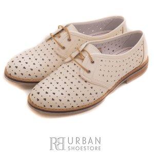Pantofi casual din piele naturala - 406-2 alb