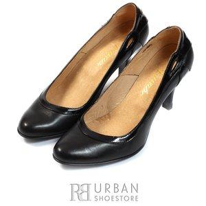 Pantofi casual din piele naturala - 419 negru