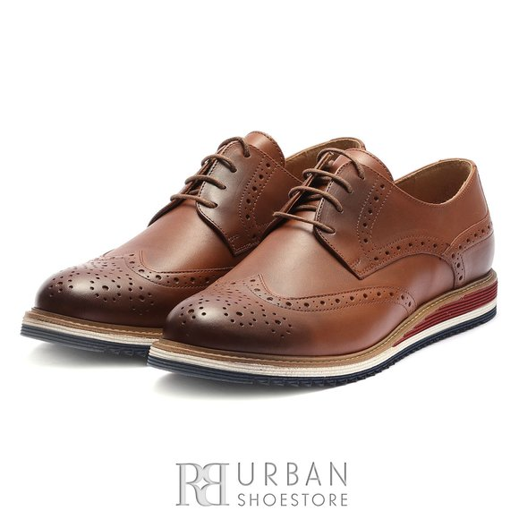 Pantofi casual din piele naturala - 538 Cognac Box