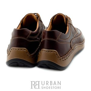 Pantofi casual din piele naturala - 763 maro
