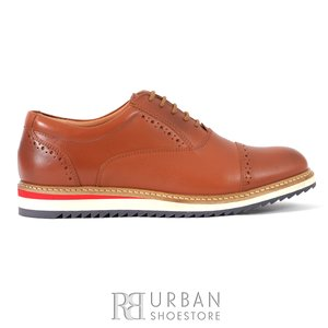 Pantofi casual din piele naturala - 818 cognac