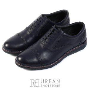 Pantofi casual din piele naturala - 842 blue