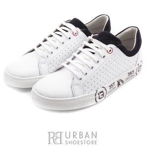 Pantofi casual din piele naturala - 881 alb