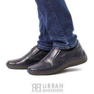 Pantofi casual din piele naturala - 919 Blue Box