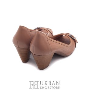 Pantofi casual din piele naturala lacuita - 276-1 taupe
