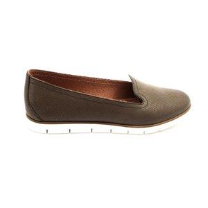 Pantofi casual din piele naturala Leofex - 024 B66 Gri Inchis Box