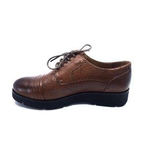 Pantofi casual din piele naturala Leofex - 094-1 Cognac