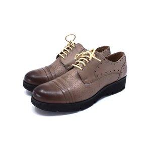 Pantofi casual din piele naturala Leofex - 094-1 Taupe