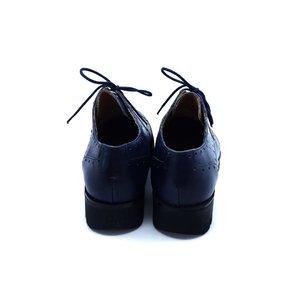 Pantofi casual din piele naturala Leofex- 095-1 Blue