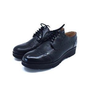 Pantofi casual din piele naturala Leofex- 095-1 Negru