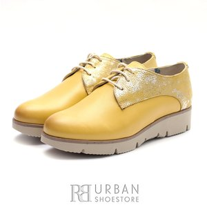 Pantofi casual din piele naturala Leofex- 200 Galben Box