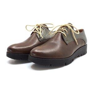 Pantofi casual din piele naturala Leofex- 200 Taupe bronz box