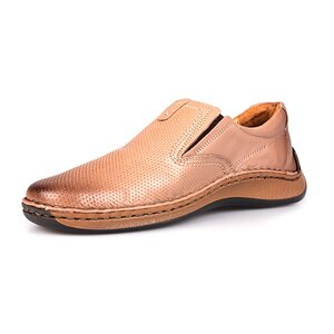 Pantofi casual din piele naturala Leofex- 919 Taupe