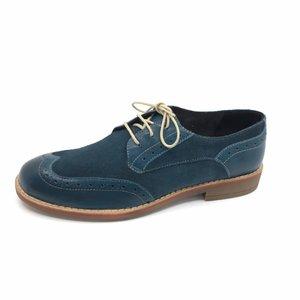 Pantofi casual din piele naturala- Mostra 012 Verde Marin